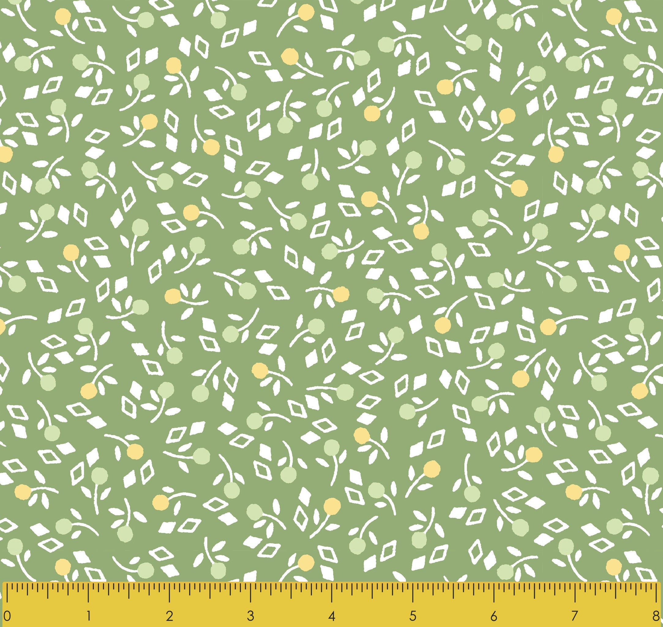 VINTAGE MIX & MATCH-SS VM Toss Flowerlet Grass 100% Cotton