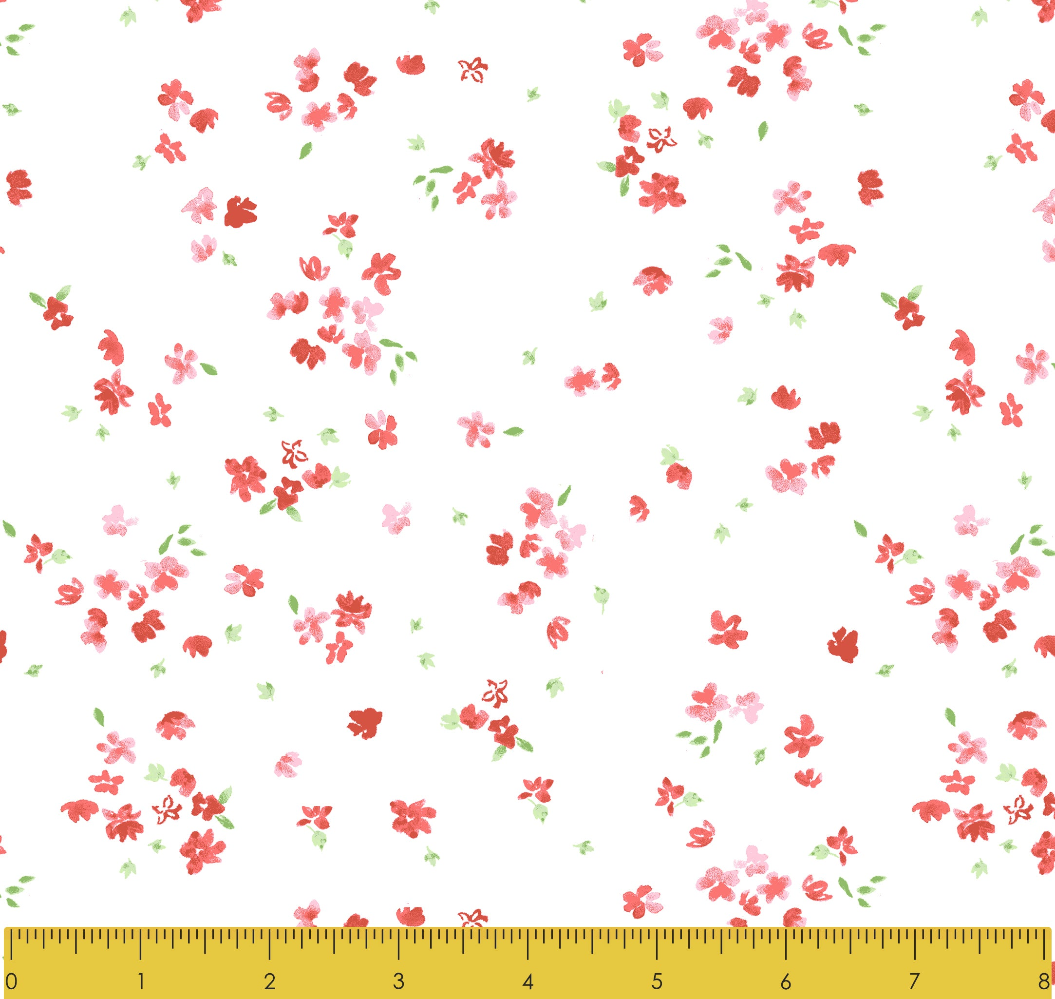 Stitch & Sparkle Fabrics, Watercolor Floral, Small Watercolor Flowers  Cotton Fabrics,  Quilt, Crafts, Sewing, Cut By The Yard
