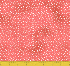 Stitch & Sparkle Fabrics, Watercolor Floral, Red Watecolor Dots Cotton Fabrics,  Quilt, Crafts, Sewing, Cut By The Yard