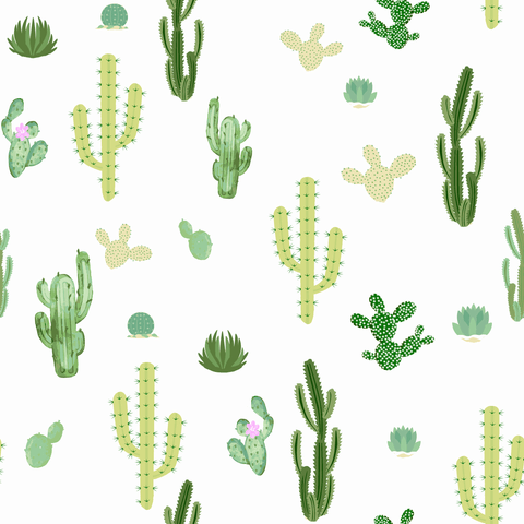 Stitch & Sparkle Fabrics, Tropical, Strong Cactus  Cotton Fabrics,  Quilt, Crafts, Sewing, Cut By The Yard