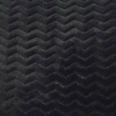 Black chevron fleece--Baby honeycomb