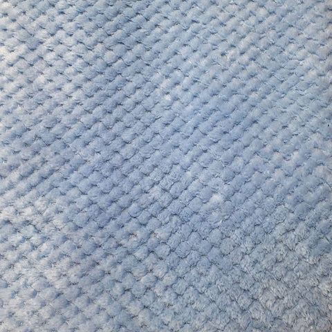 Blue honeycomb fleece