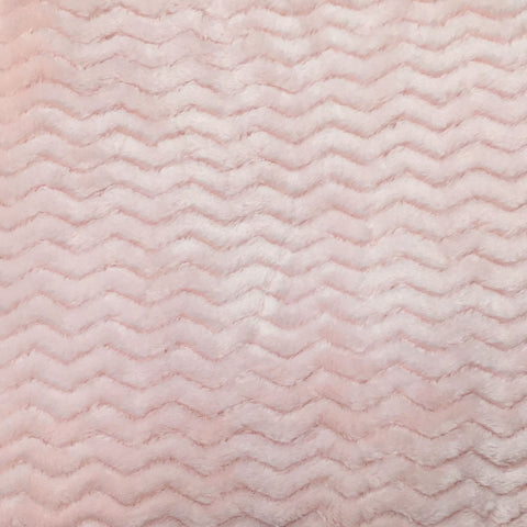 Pink chevron fleece--Baby honeycomb