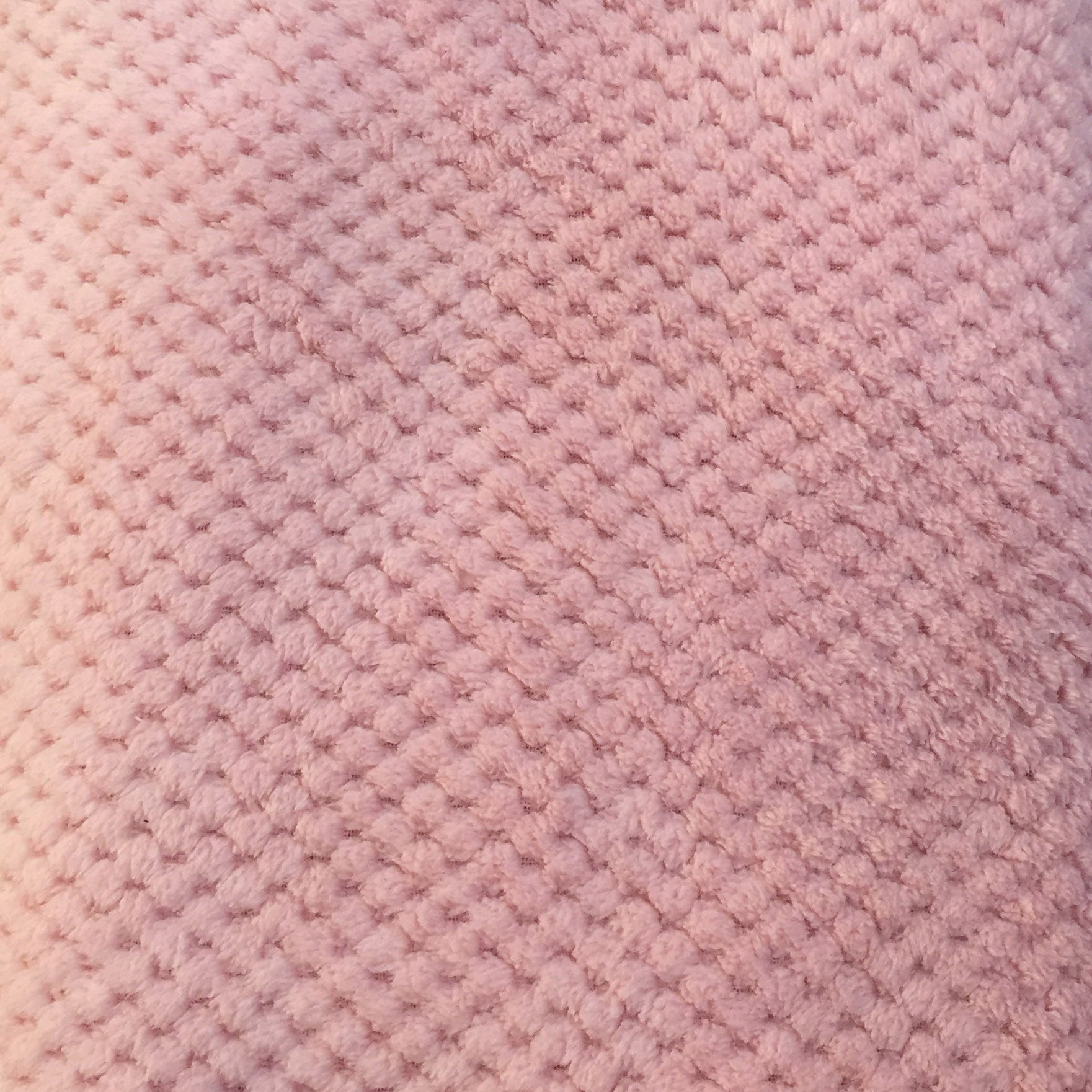 Pink honeycomb fleece