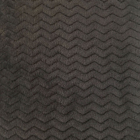 Charcoal chevron fleece--Baby honeycomb