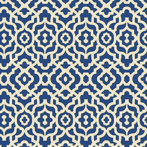 45'' Cotton Duck Canvas Lattice Blue