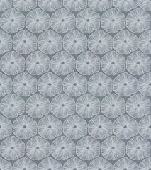 "Stitch & Sparkle Surrender To The Sea-Round Coral On Grey 100% Cotton Fabric 44"" Wide, Quilt Crafts Cut by The Yard"