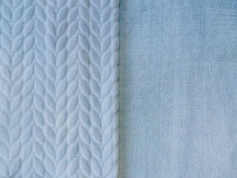 Stitch & Sparkle 100% Polyester Squiggly Minky  Fleece, Cloud, Blanket Fabric, Apparel Fabric, Nurcery Fabric, 60'', 245Gsm