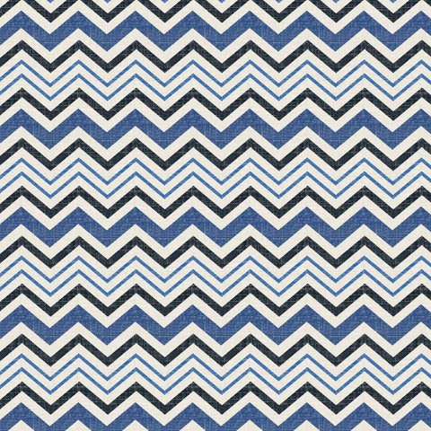 45'' Cotton Duck Canvas Chevron Navy