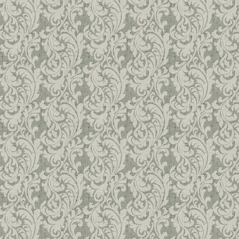 54'' Cotton Duck Canvas Paisley Scroll Gray