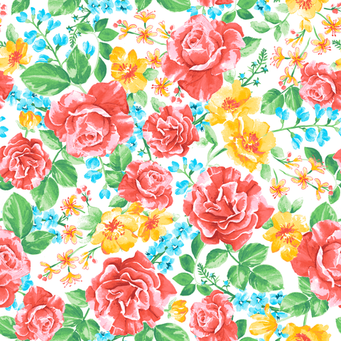 Stitch & Sparkle Fabrics, Watercolor Floral, Large Watercolor Flowers Cotton Fabrics,  Quilt, Crafts, Sewing, Cut By The Yard