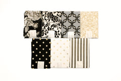 "Stitch & Sparkle 7 pcs 18"" by 21"" Fat Quarter Bundle, Dark Romance,  Quilt, Crafts, Sewing"