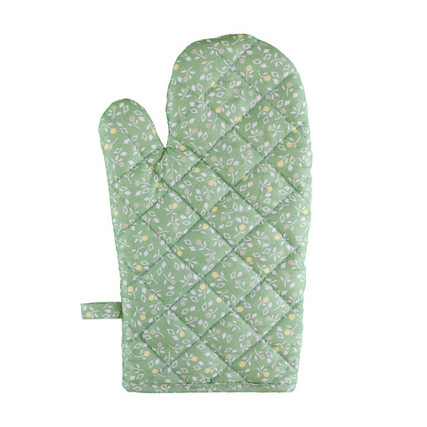 Stitch & Sparkle OVEN MITT 1 Piece Pack, Heat Resistant, 100% Cotton, Vintage, Toss Flowerlet