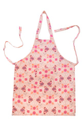 Stitch & Sparkle APRON with pocket, 100% Cotton, Modern Scandinavian, MS Daffodil Pink,  One Size Fix For All