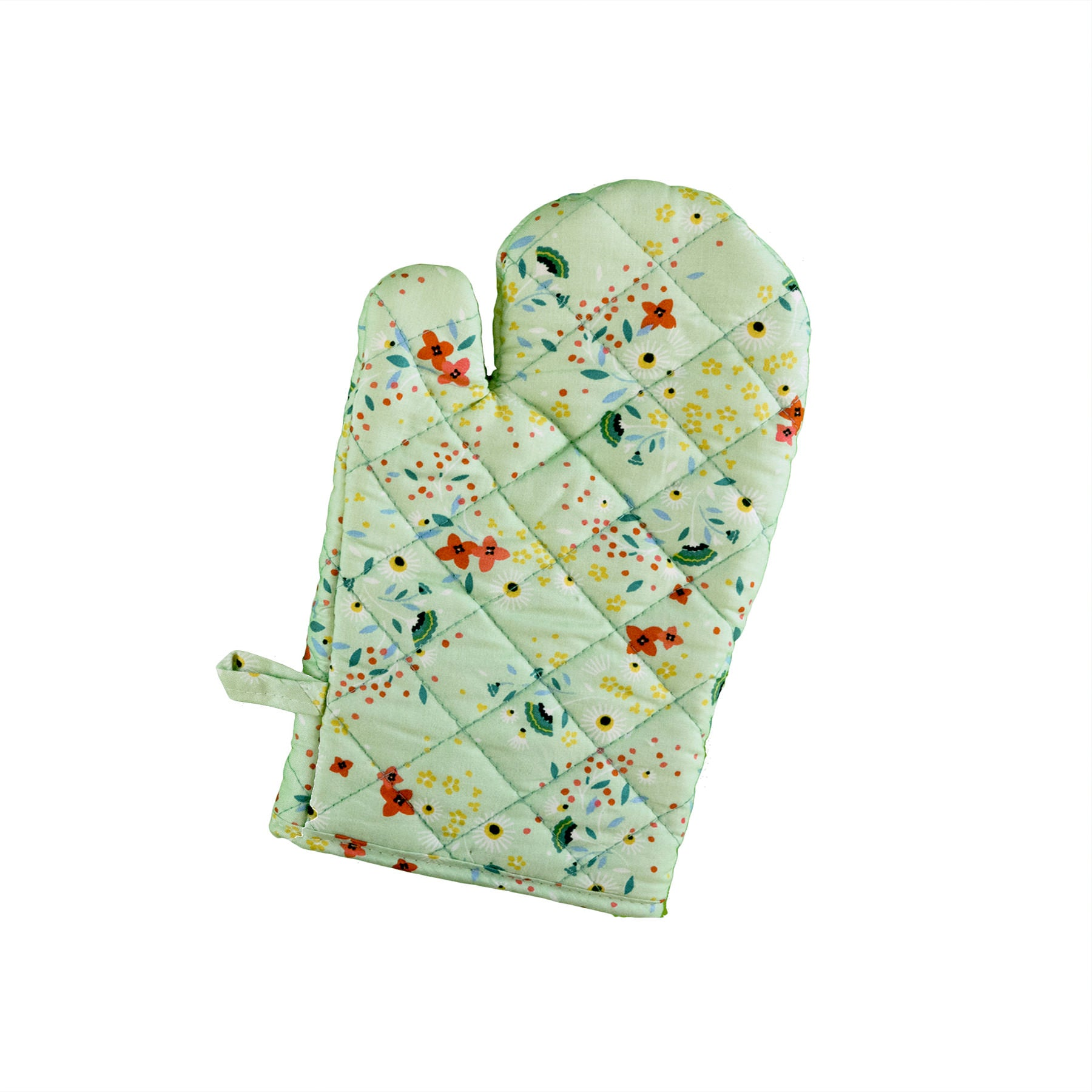 Stitch & Sparkle OVEN MITT 1 Piece Pack, Heat Resistant, 100% Cotton, Modern Scandinavian, MS Daisy Linden