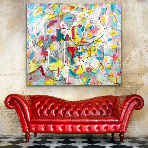 Contemporary art, oil painting, abstract painting, painter