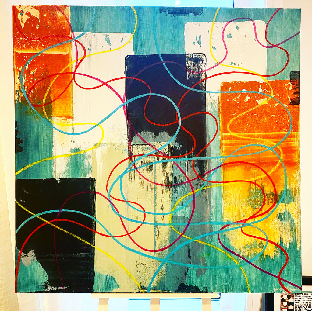 Oil painter, oil painter, abstract painting
