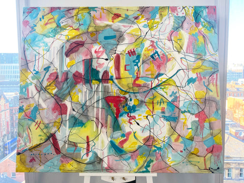 Abstract painting, oil painting, contemporary art