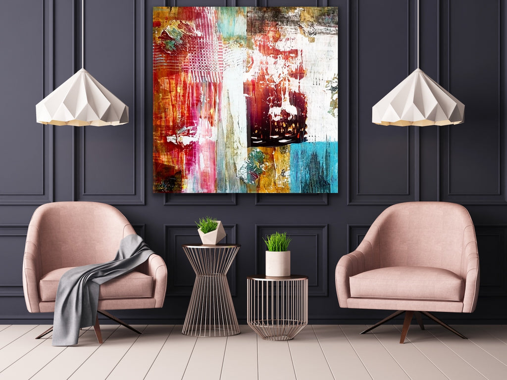 Acrylic painting, abstract painting