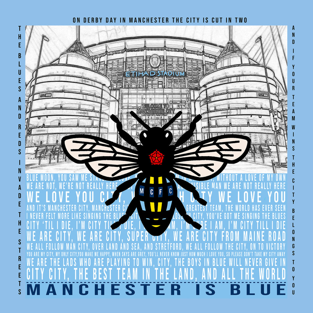 Manchester City Pro Mounted Print