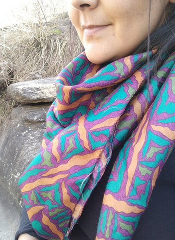Pure Silk and Pashmina Scarf