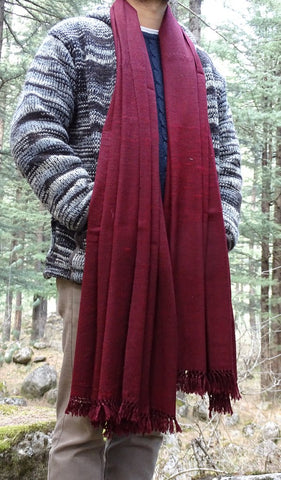 mens meditation shawl