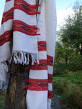 Oversized white wool scarf