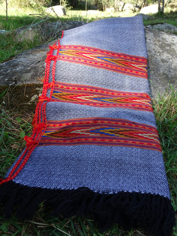 Tribal handloomed wool shawl