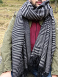 Long mens wool scarf