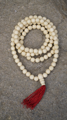 White 108 Prayer beads