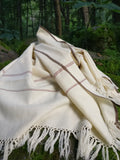 Ivory white wool scarf