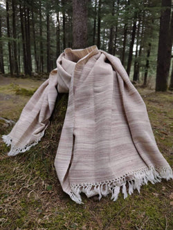 Wool blanket scarf