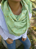 Mint Green Silk Scarf