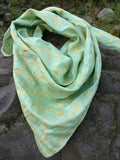 mint green square scarf