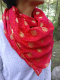 red scarf womens