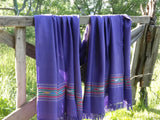Lavender oversized unisex wool throw