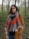 Pure wool  handwoven blanket scarf