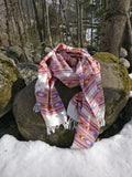 Elegantly handcrafted colourful tribal wool shawl/blanket scarf/oversized scarf/throw