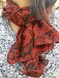 Ladies Crepe Silk Neck Scarves