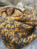 Pure Raw Silk Scarf in Royal Bronze