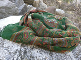 Indian Paisley Chiffon Silk Sarong Scarf