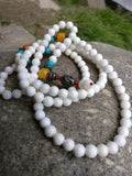 White Agate 108 gemstone prayer beads