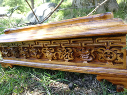 Handcarved incense holder with 8 auspicious symbols of buddhism