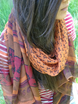 Silk Neck Scarf for Women