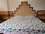 Himalayan crewel design bed spread