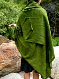 Pashmina Shawl in Olive Green