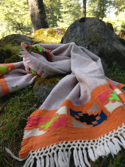 Handloomed wool scarf/ stole