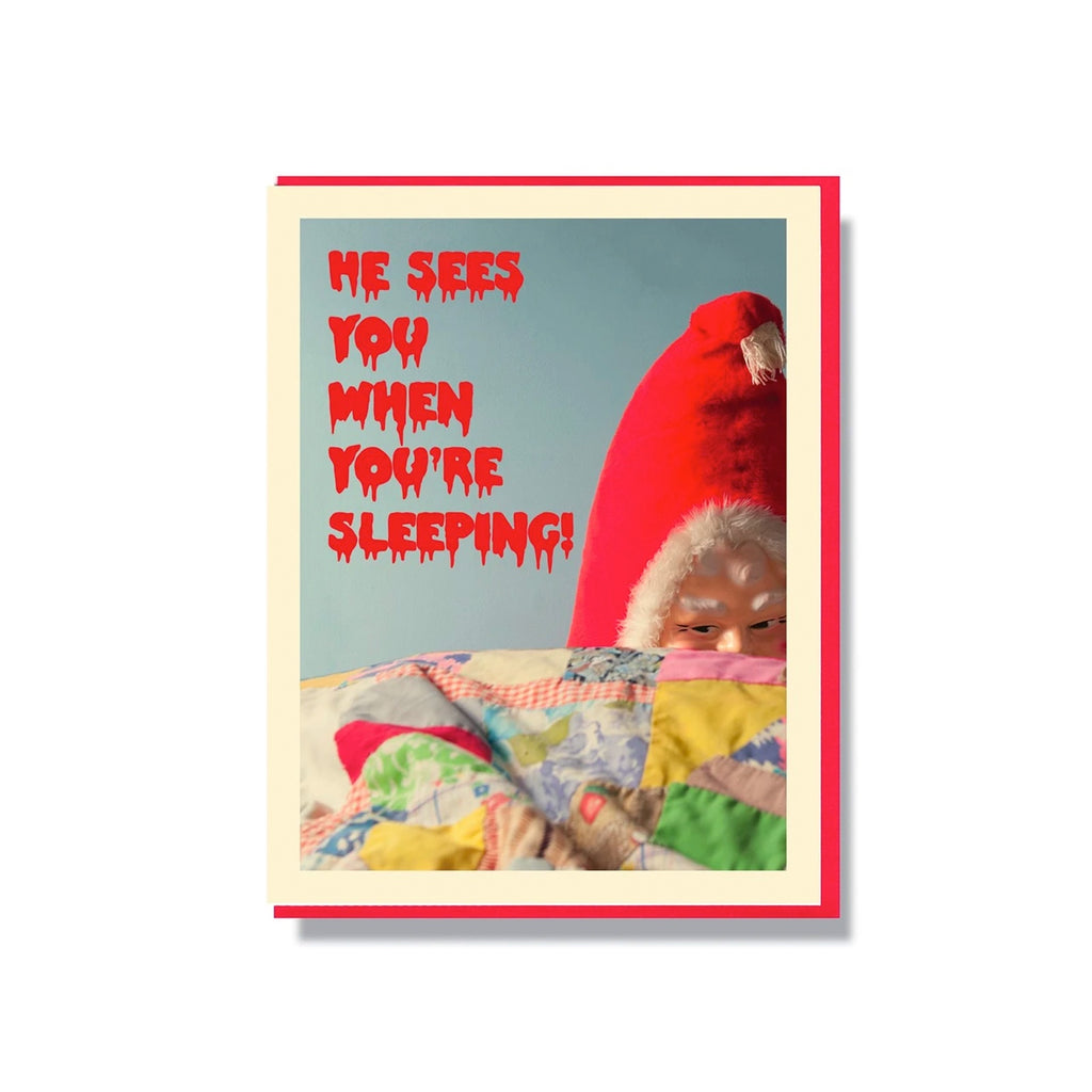 Creepy Santa - When You're Sleeping Card