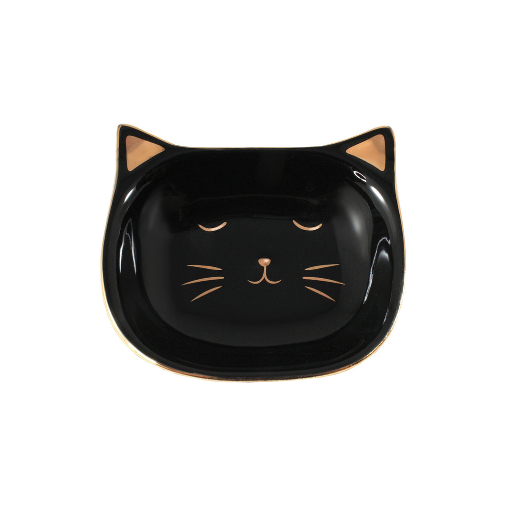 Katy Cat Tray - Black & Gold