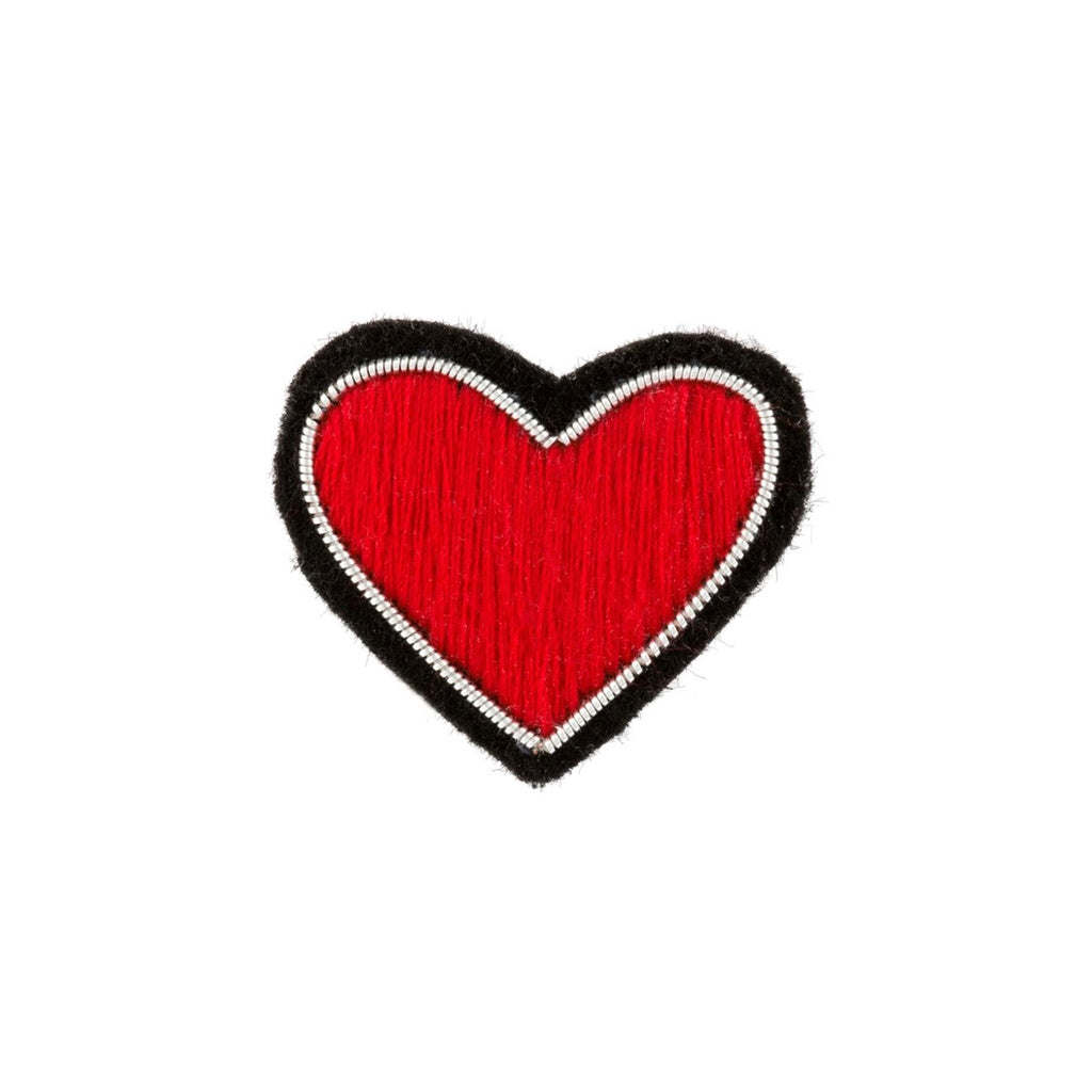 Red Heart Patch Pin